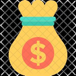 Money Sack Flat Icon