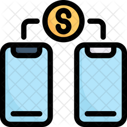 Money Transfer Colored Outline Icon
