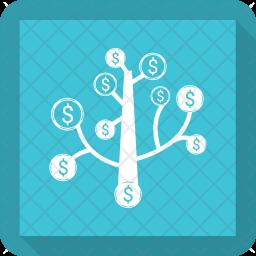 Money tree Glyph Icon