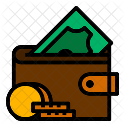 Money Wallet Icon of Colored Outline style - Available in SVG, PNG, EPS, AI & Icon fonts