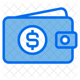 Money Wallet Colored Outline Icon