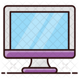 Monitor Colored Outline Icon