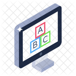 Monitor Alphabets Icon