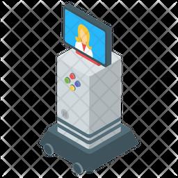 Monitor Head Robot Icon