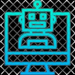 Monitor Robot Icon