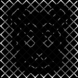 Monkey Glyph  Emoji Icon