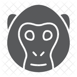 Monkey Glyph Icon