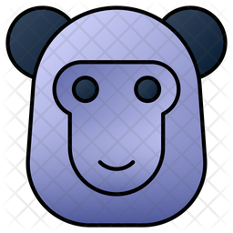 Monkey Colored Outline Icon