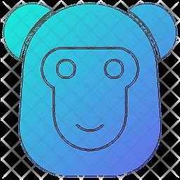Monkey Gradient Icon