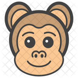 Monkey Face Colored Outline  Emoji Icon