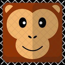 Monkey Head Flat Icon