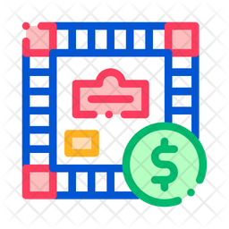 Monopoly Colored Outline Icon