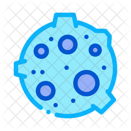 Moon Colored Outline Icon
