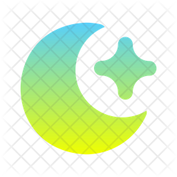 Moon And Star Gradient Icon