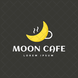 Moon Cafe Colored Outline  Logo Icon