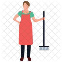 Mopping Girl Icon