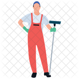Mopping Man Icon