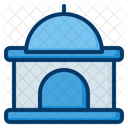 Mosque Colored Outline Icon
