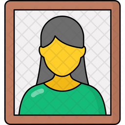 Mother Photo Colored Outline Icon