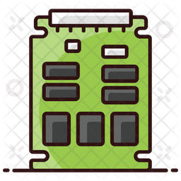 Motherboard Colored Outline Icon