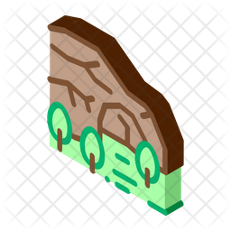 Mountain Cave Forest Icon