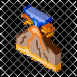 Mountain Eruption Icon