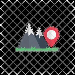 Mountain Location Flat Icon