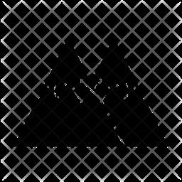 Mountains Glyph Icon