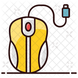 Mouse Colored Outline Icon