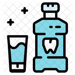 Mouthwash Colored Outline Icon