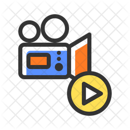 Movie Colored Outline Icon