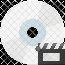 Movie file in cd Icon