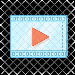 Movie, Video, Tape, Scene, Play, Presentation Icon