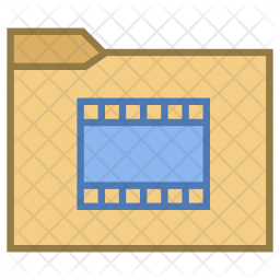 Movies Folder Icon Of Colored Outline Style Available In Svg Png Eps Ai Icon Fonts