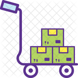 Moving Trolley Icon