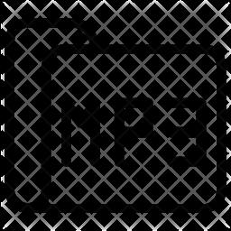 Mp3 folder Line Icon