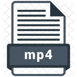 Mp4 File Icon Of Colored Outline Style Available In Svg Png Eps Ai Icon Fonts
