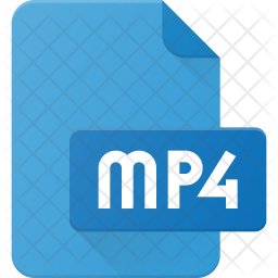 Mp4 Film Flat Icon