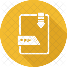 Mpga file Glyph Icon