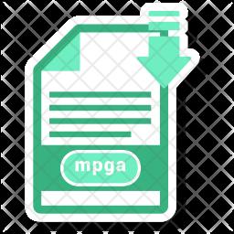Mpga file Flat Icon