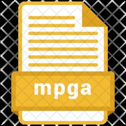 Mpga file Colored Outline Icon