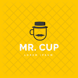 Mr, Cup Colored Outline  Logo Icon