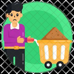 Mud Cart Icon
