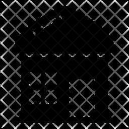 Mud House Glyph Icon