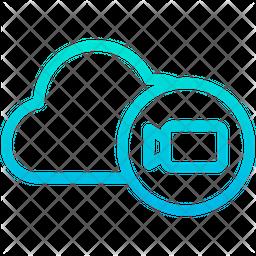 Multimedia Cloud Icon