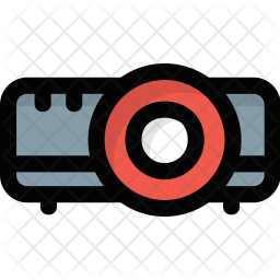 Multimedia Projector Colored Outline Icon