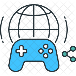 Multiplayer Game Icon Of Colored Outline Style Available In Svg Png Eps Ai Icon Fonts