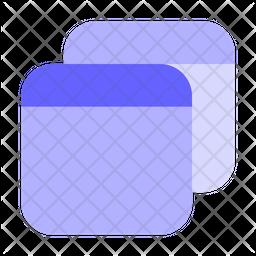 Multiple-tab Flat Icon