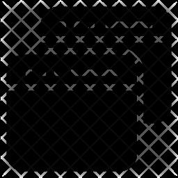 Multiple window Glyph Icon