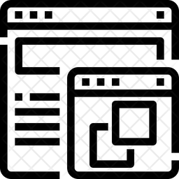 Multiple windows Line Icon